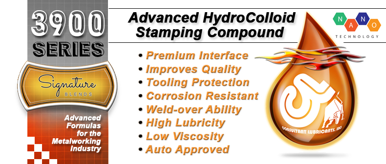 3900 Signature Blend Advanced Hydrocolloid Metalstamping Lubricant Compound