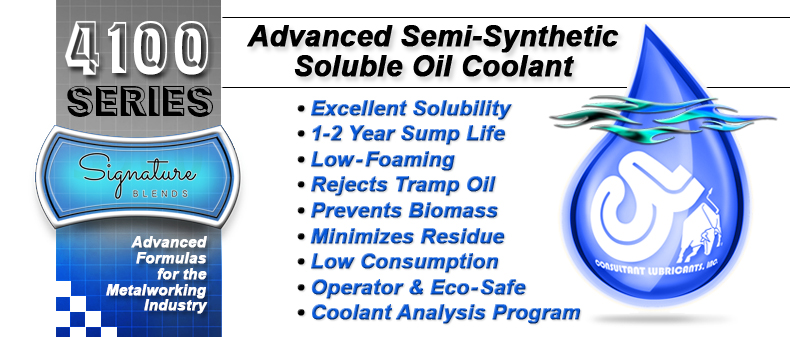 4100 Advanced Semi-Synthetic Long Life, Soluble Oil CNC Machining Coolant